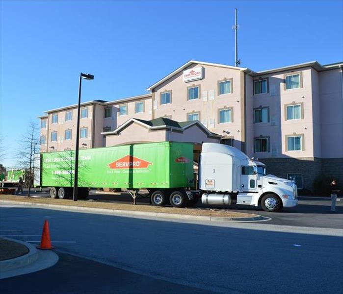 SERVPRO Truck at Savannah Hotel