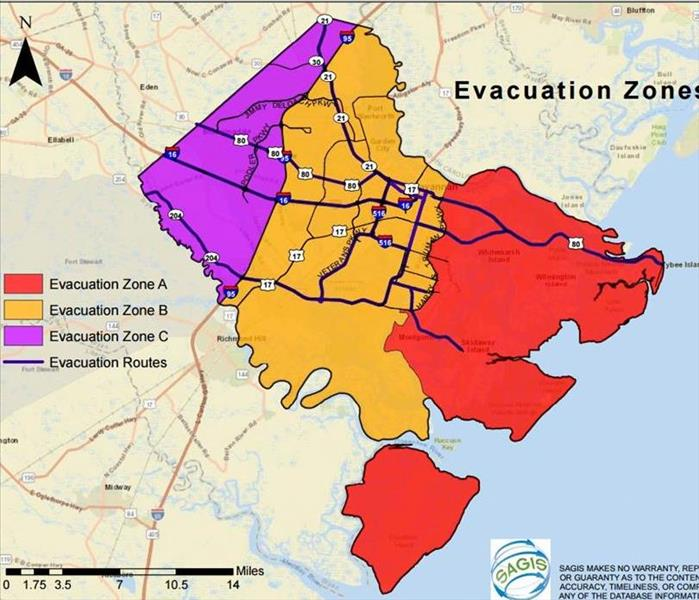 Storm Damage New Evacuation Zones for Chatham County
